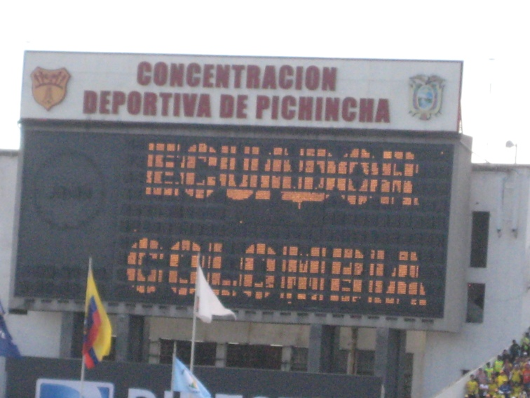 Ecuador vs Columbia